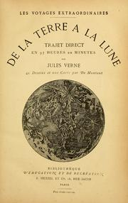 Cover of: De la terre à la lune