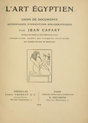 Cover of: L' art égyptien