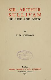 Cover of: Sir Arthur Sullivan | Findon, Benjamin William