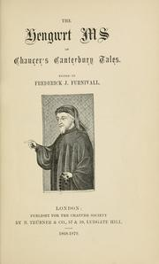 Cover of: The Hengwrt MS. of Chaucer's Canterbury Tales | Geoffrey Chaucer