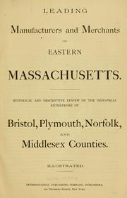 Cover of: Leading manufacturers and merchants of eastern Massachusetts by