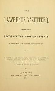 Cover of: The Lawrence gazetteer | Charles G. Merrill
