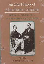 Cover of: An oral history of Abraham Lincoln