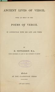 Cover of: Ancient lives of Vergil