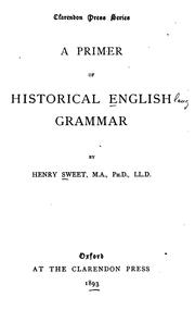 Cover of: A primer of historical English grammar