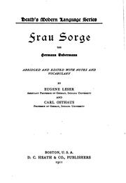 Cover of: Frau Sorge