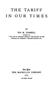 Cover of: The tariff in our times