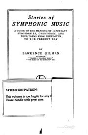 Cover of: Stories of symphonic music | Gilman, Lawrence