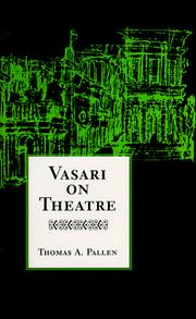 Cover of: Vasari on theatre