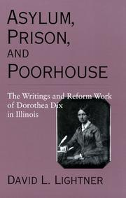 Cover of: Asylum, prison, and poorhouse