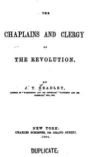 Cover of: The chaplains and clergy of the revolution
