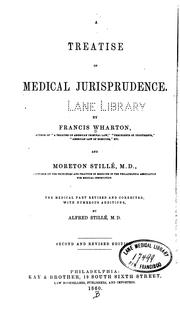 Cover of: A treatise on medical jurisprudence