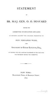 Cover of: Statement of Br. Maj. Gen. O.O. Howard