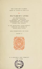 Cover of: Plutarch's lives of Themistocles, Pericles, Aristides, Alcibiades, and Coriolanus, Demosthenes, and Cicero, Caesar and Antony: in the translation called Dryden's