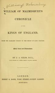 Cover of: William of Malmesbury's Chronicle of the kings of England