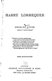 Harry Lorrequer by Charles James Lever