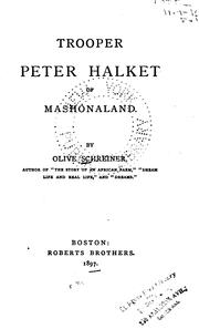 Cover of: Trooper Peter Halket of Mashonaland | Olive Schreiner