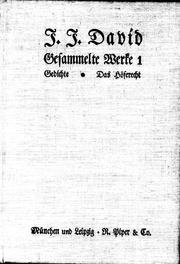 Cover of: Gesammelte Werke | Jakob Julius David