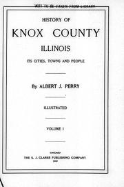 Cover of: History of Knox County, Illinois |