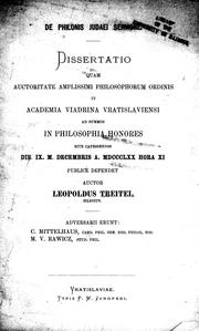 Cover of: De Philonis Judaei sermone