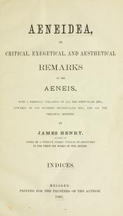 Cover of: Æneidea, or, Critical, exegetical, and aesthetical remarks on the Aeneis