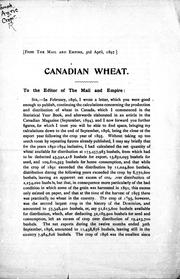 Cover of: Canadian wheat |