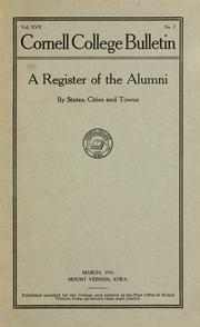 Cover of: Alumni of Cornell College | Cornell College (Mount Vernon, Iowa)