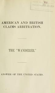 Cover of: American and British claims arbitration. | United States