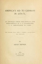 Cover of: America's aid to Germany in 1870-71