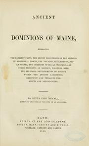 Cover of: Ancient dominions of Maine | Rufus King Sewall