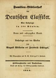 Cover of: Anthologie aus den Werken