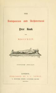 Cover of: Antiquarian and architectural year book for ... . |