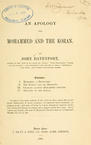 Cover of: An apology for Mohammed and the Koran