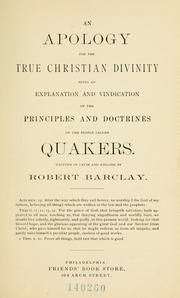 Theologiae verè Christianae apologia by Barclay, Robert