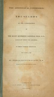 Cover of: The apostolical commission