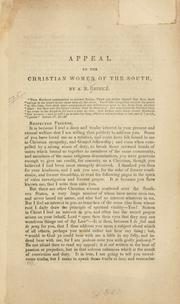 Cover of: Appeal to the Christian women of the South