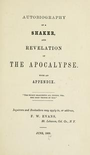 Cover of: Autobiography of a Shaker