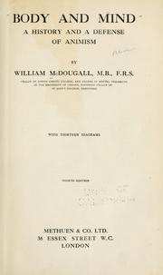 Body and mind by McDougall, William
