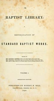 Cover of: The Baptist library | Charles George Sommers