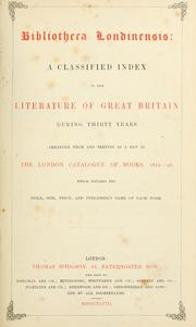 Cover of: Bibliotheca londinensis |