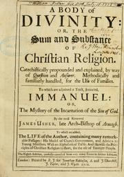 Cover of: A body of divinity, or The sum and substance of Christian religion