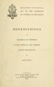 Bookbindings and rubbings of bindings in the National Art Library, South Kensington Museum by National Art Library (Great Britain)