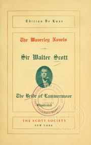 Cover of: The bride of Lammermoor. | Sir Walter Scott
