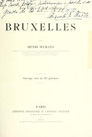Cover of: Bruxelles