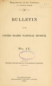 Cover of: Bulletin - United States National Museum |