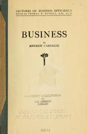 Cover of: Business
