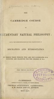 The Cambridge course of elementary natural philosophy by John Charles Snowball