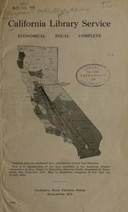 Cover of: California library service | California State Library.