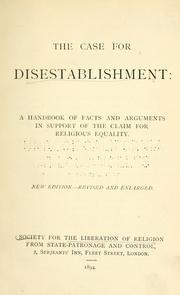 Cover of: The Case for disestablishment |