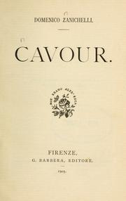 Cover of: Cavour